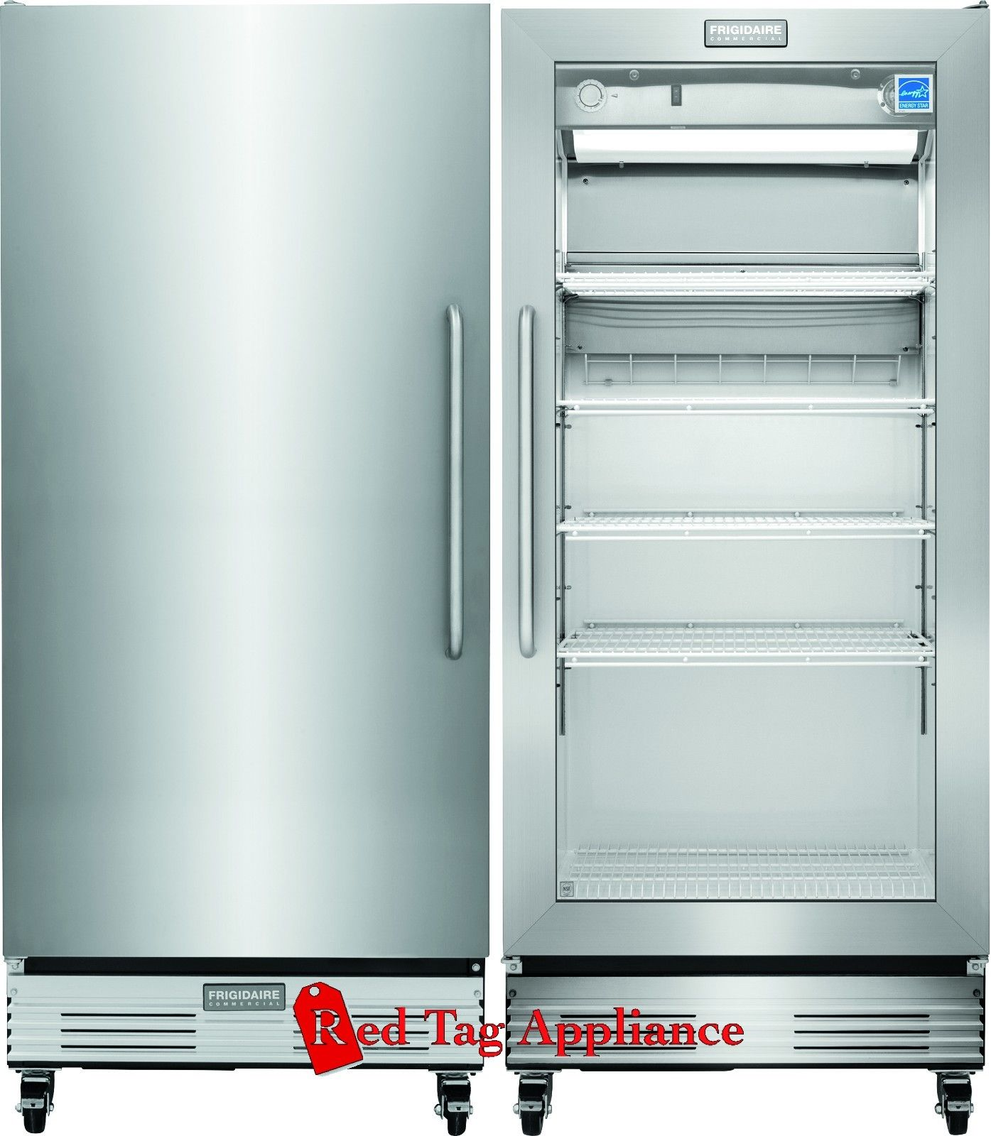 New frigidaire commercial nsf food grade glass door refrigerator freezer combo - Glass door refrigerator freezer ...