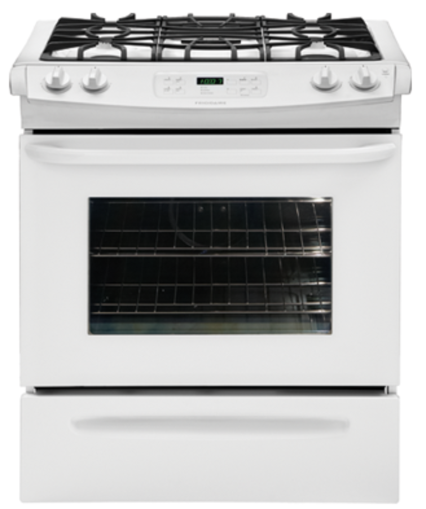 New frigidaire white gas self cleaning slide in stove range ffgs3025lw ebay - Clean gas range keep looking new ...