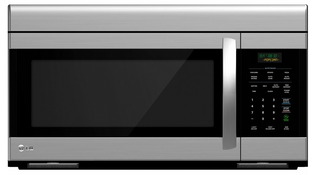 Lg 30 Stainless Steel 1 6 Cu Ft Over The Range Microwave Lmv1683st