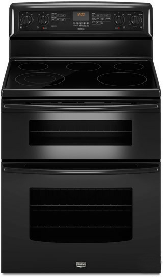 New maytag 6 7 cu ft double oven electric freestanding range met8665xb ebay - Maytag electric double oven range ...