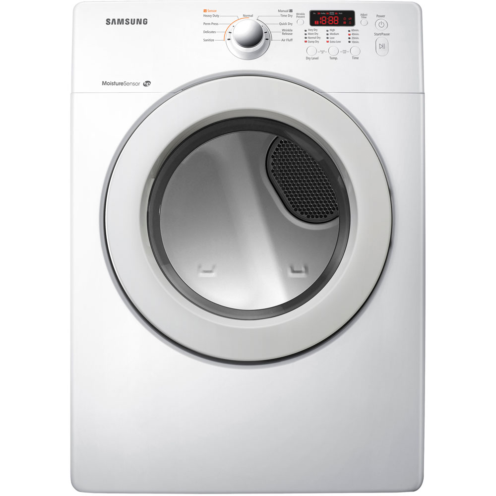 New Samsung White 3 6 Cf Washer Amp Electric Dryer Laundry