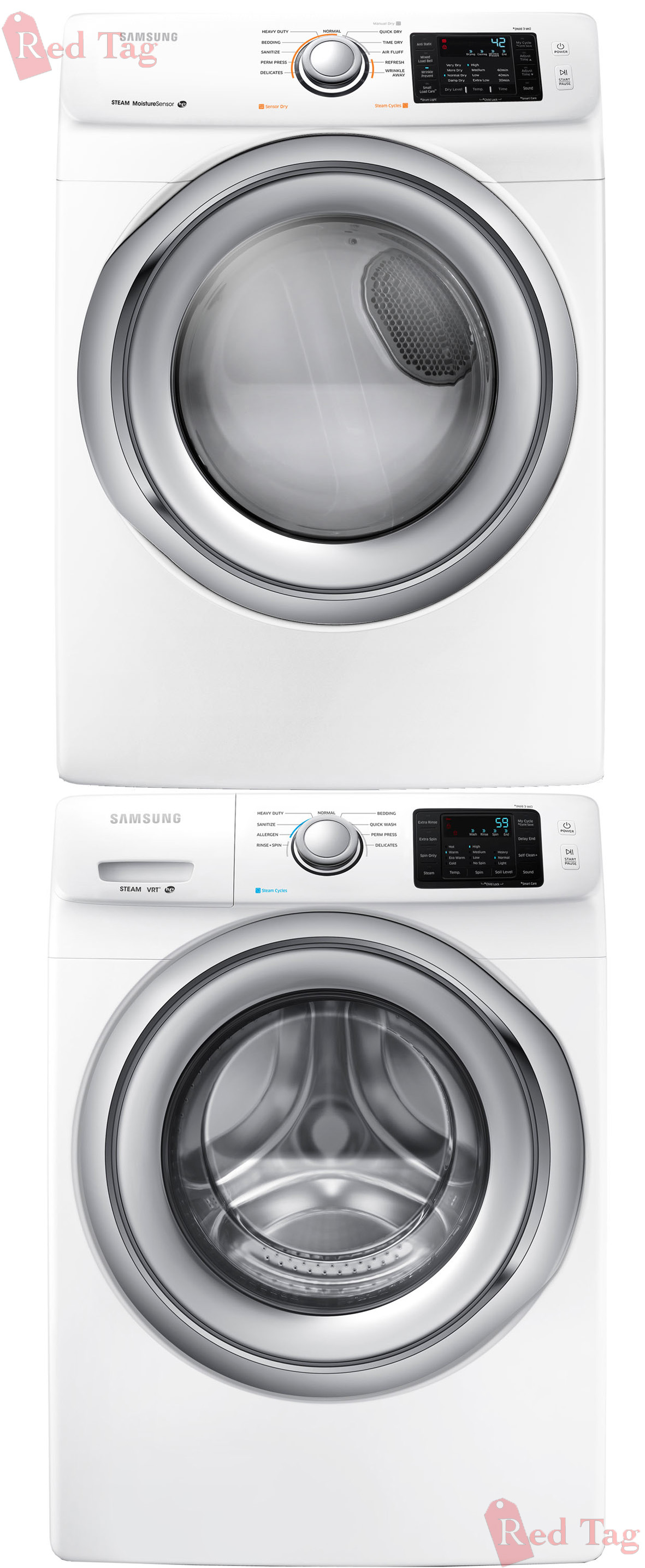 Samsung 4 2 Cf Steam Front Load Washer 7 5 Cf Electric