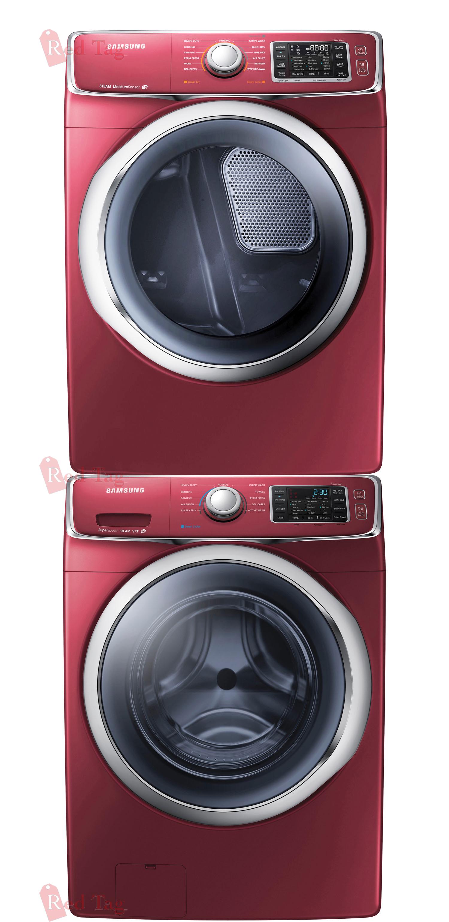 Washing Red Samsung ~ Samsung cf front load steam washer gas