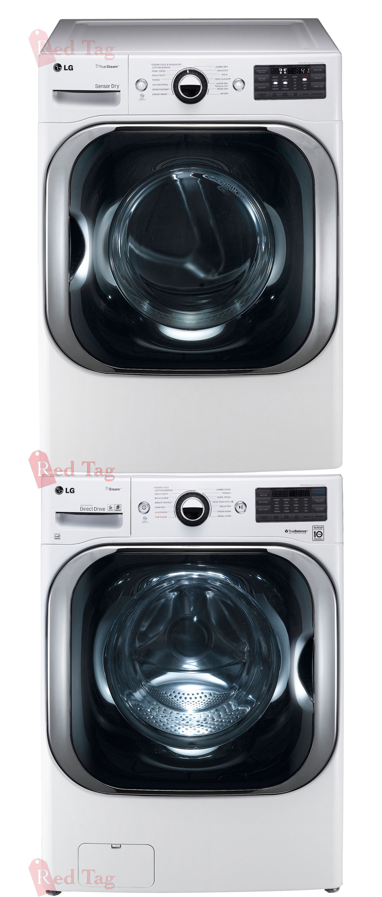 Lg Stacked White 5 2 Cf Washer Amp 9 0 Cf Electric Dryer