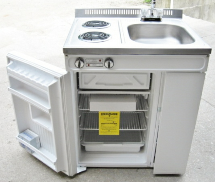 Compact Kitchen Sink : Details about Woods Compact Kitchen 2 Element Stove Refrigerator Sink ...