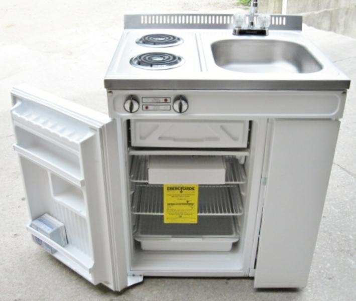 Compact Kitchen Appliances: Woods Compact Kitchen 2 Element Stove Refrigerator Sink